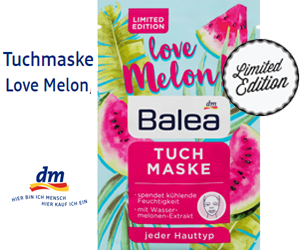 Hole dir die Tuchmaske von Balea in der neuen Limited Edition Melone