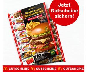 Bis zu 50 % bei McDonalds sparen!