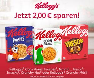 pare 2,00 € auf Produkte von Kellogg's