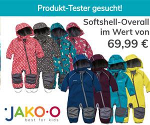 Teste einen Softshell-Overall von JAKO-O im Wert von 69,99 €
