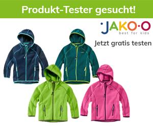 Neuer Produkttest von JAKO-O: Erhalte eine Kapuzenjacke