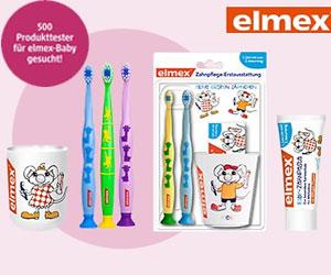 elmex sucht Produkttester für elmex-Babyprodukte
