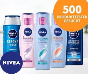Tester für neue Nivea Haarpflegeserie