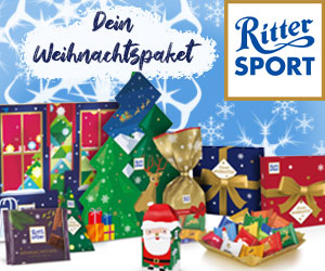 Rittersport Weihnachtspaket gewinnen