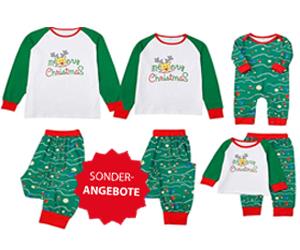 Weihnachtspyjamas ab 0,03 € für die ganze Familie