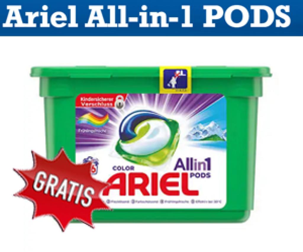 Gratis testen: Ariel All-in-9 PODS - Testclub Deutschland