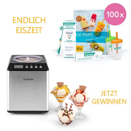 Eismaschine und elmex Produktpaket