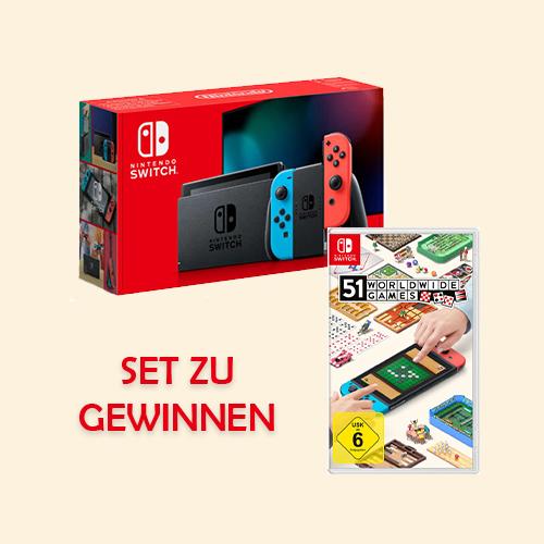 Nintendo Switch mit Spielesammlung